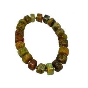 Green Garnet Bracelet Heishi