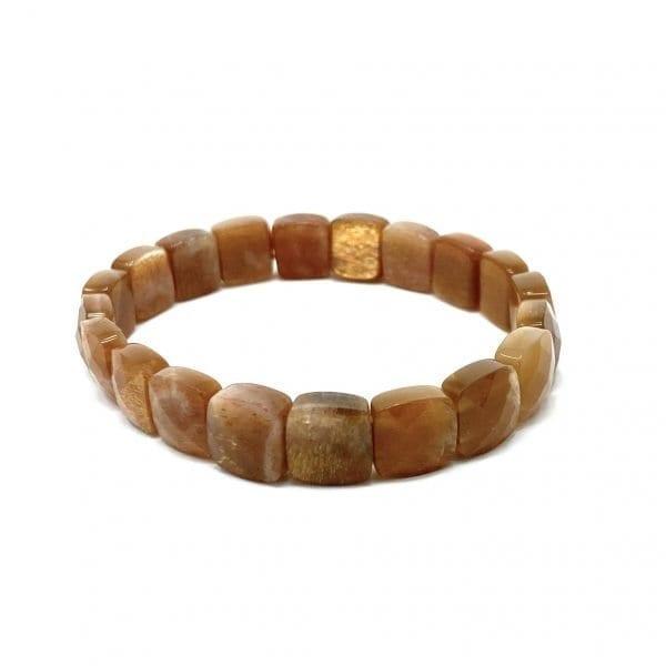 Sunstone Bracelet Faceted Square