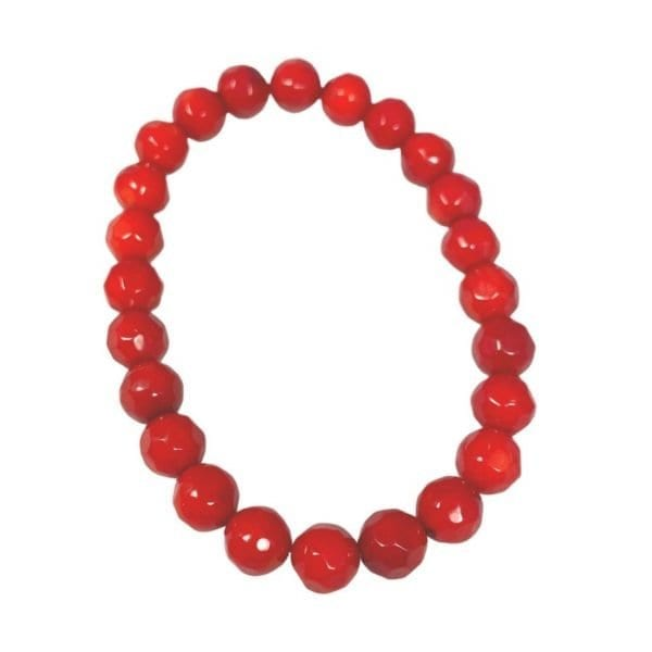 Coral Bracelet Faceted 8mm