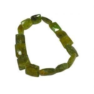 Green Garnet Bracelet AA Quality Faceted Rectangle