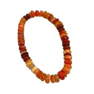 Fire Opal Bracelet Rondelle