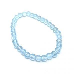 Topaz Bracelet Blue 6mm