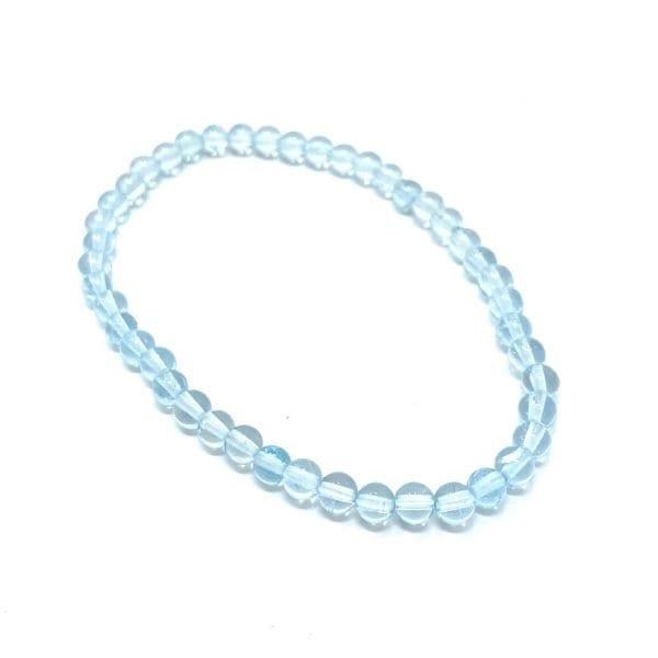 Topaz Bracelet Blue 4mm