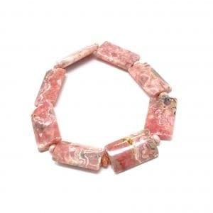 Rhodochrosite Bracelet AA Quality Rectangle