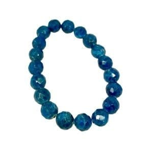Apatite Bracelet Faceted 10mm