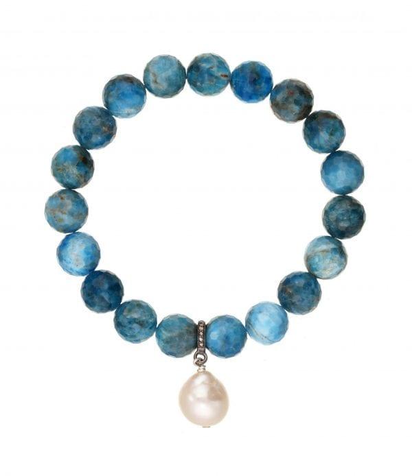 Margo Morrison Apatite, Pearl, & Diamond Bracelet