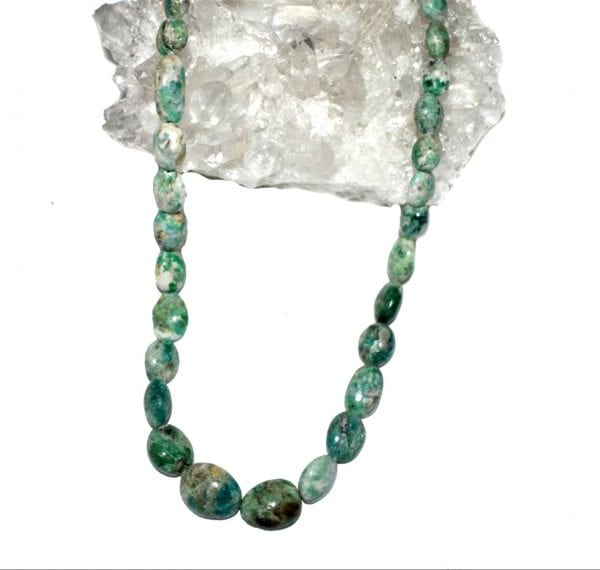 Emerald And Calcite Necklace