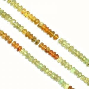 Apatite 4mm Faceted Rondelle Beads (14' In. Strand)
