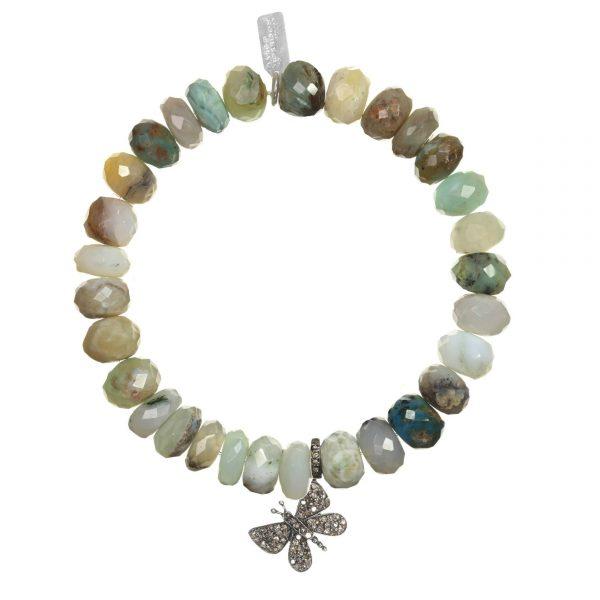 Margo Morrison Opal & Diamond Butterfly Bracelet