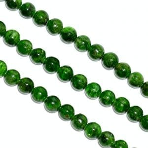 Diopside 6mm Round Beads (16' In. Strand)
