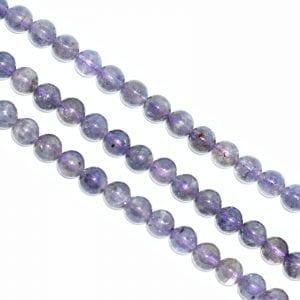 Iolite 6mm Round Beads (16' In. Strand)