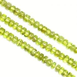 Peridot 6mm Heishi Beads (15.5' In. Strand)