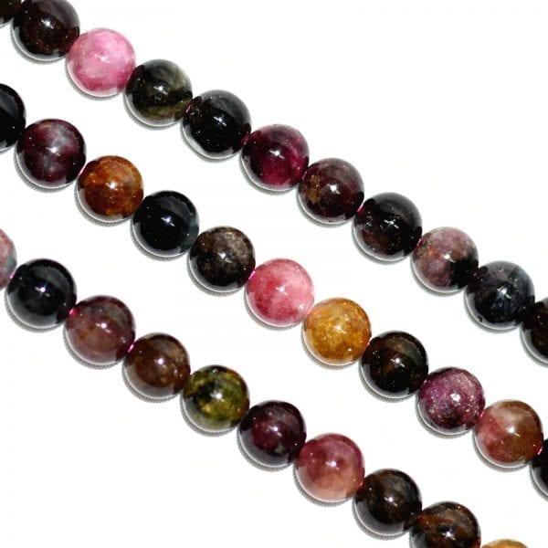 Tourmaline 8mm Round Beads (16' In. Strand)