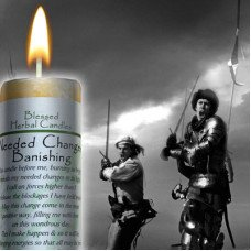 Needed Changes/Banishing Blessed Herbal Candle