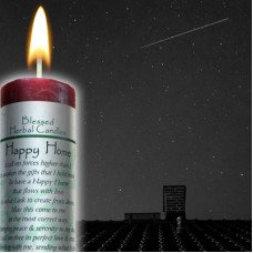 Happy Home/ Peace And Serenity Blessed Herbal Candle