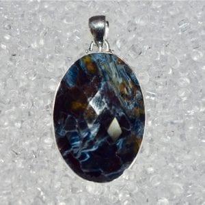 Pietersite Faceted Pendant Blue