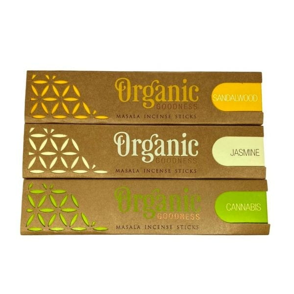 Organic Goodness Incense Sticks (Cannabis, Jasmine, Sandalwood)