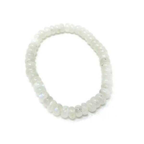 Moonstone Bracelet Rondelle 6mm