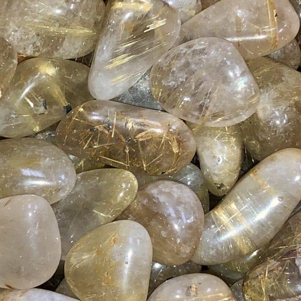 Rutilated Quartz Tumbled Stone