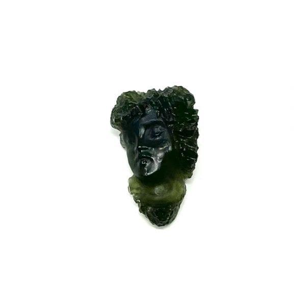 Moldavite Hand Carved Face