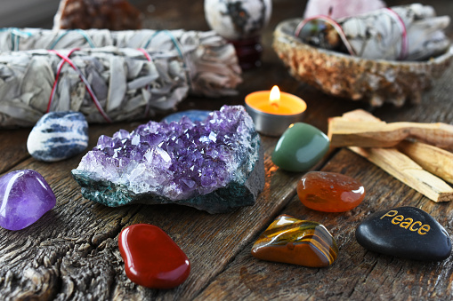 raw and tumbled stones