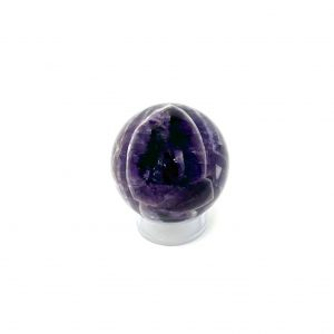 chevron amethyst sphere