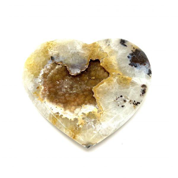Chalcedony Mixed Heart with Citrine