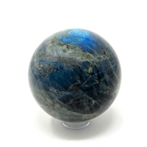 labradorite sphere - grey with a blue gleam