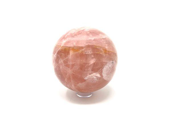rose quartz sphere -pink