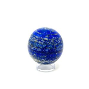 lapis sphere - blue with gold flecks and white streaks