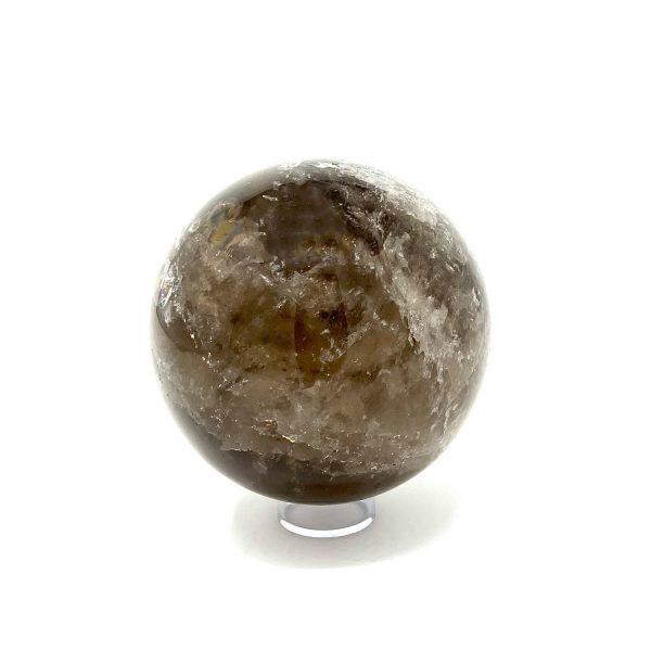 smokey quartz sphere - black/grey